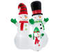 LED Inflatable Light Up Snowman Family 8 feet silo front