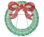 LED Lit Tinsel Wreath 30 inch silo front
