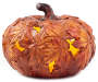 LED MAPLE LEAF CUT OUT PUMPKIN-SHORT