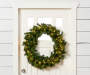 LED Pre Lit Pine Wreath 36 inch on door