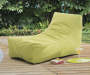 LIME GREEN KING LOUNGER POUF