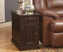 Laflorn Brown Sable Console End Table