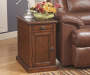 Laflorn Rich Brown Motif Console End Table