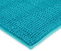 Lake Blue Textured Contour Bathroom Rug Silo Image Close Up Corner Shot
