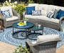 Lakewood Curved All Weather Wicker Cushioned Patio Sofa