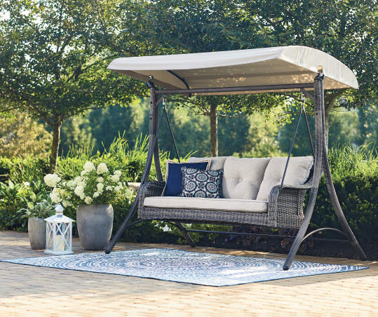 Fisher Lakewood All Weather Wicker, Big Lots Outdoor Swing Canopy Replacement
