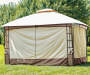 Lakewood Soft Top Domed Gazebo 10 feet by 12 feet Lifestyle Image