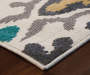 Lance Ivory Area Rug 5FT3IN x 7FT6IN Close Up Corner Shot