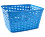Large Blue Weave Basket silo side view