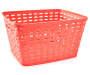 Large Coral Wicker Basket silo side view