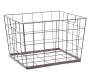 Large French Chateau Wavy Wire Bin without Liner Angled View Silo Image