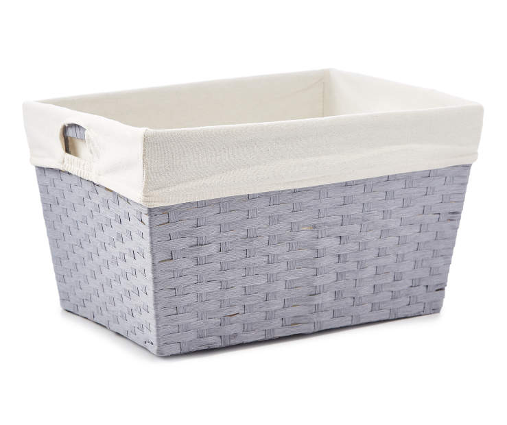 Large Gray Paper Rope Bin silo front