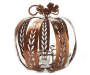 Large Metal Pumpkin Tealight Holder with Tealight Silo Image