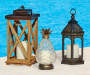 Large Moroccan LED Lantern lifestyle