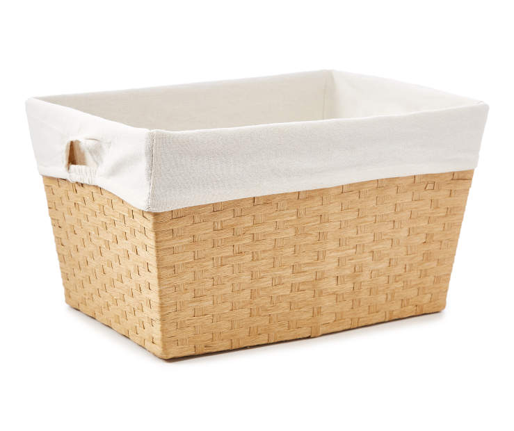 Large Natural Paper Rope Bin silo front