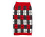 Large Red Plaid Pet Sweater silo