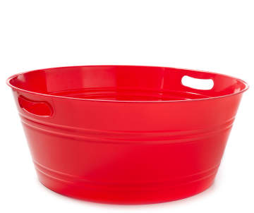 Large Red Round Party Tub