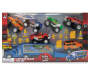 Launching Hauler and Monster Truck 17 Piece Play Set silo front package