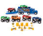 Launching Hauler and Monster Truck 17 Piece Play Set silo front