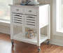 Laurie White Steel Top Kitchen Cart with Drawers lifestyle