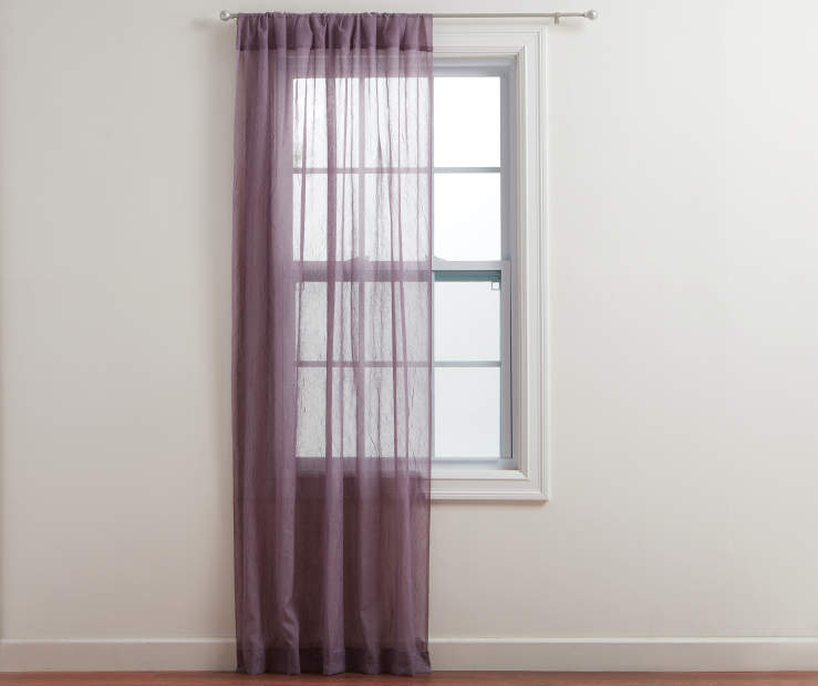 Lavender Crushed Voile Curtain Panel Lifestyle Image