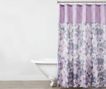 Non Combo Product Selling Price 150 Original List 1500 Lavender Floral Shower Curtain
