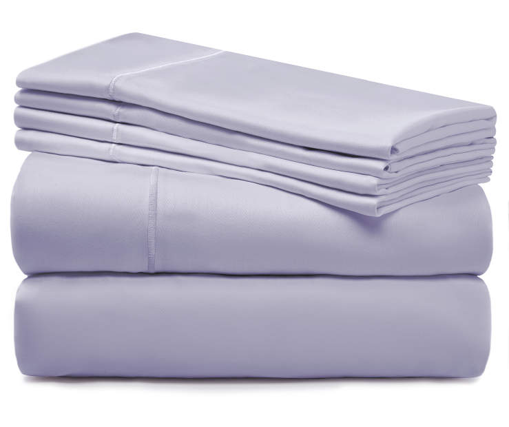 Lavender Gray 920 Thread Count King 6 Piece Sheet Set silo front