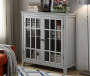 Layla Gray Windowpane 2 Door Cabinet lifestyle