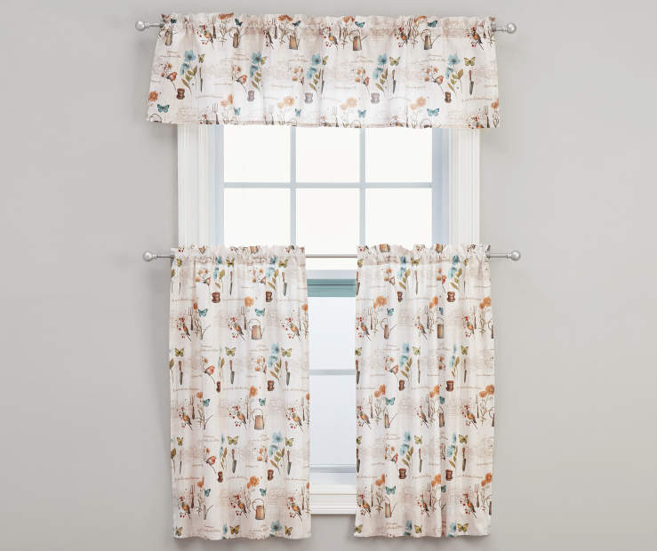 Le Jardin Tier & Valance Set 36 inches On window