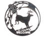 Leaping Deer Wall Decor silo front