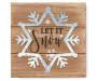 Let It Snow Snowflake Galvanized Plaque 6 inch silo side view