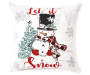 Let It Snow Snowman Throw Pillow 18 inch x 18 inch silo front