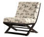 Levon Script Armless Accent Chair silo angled