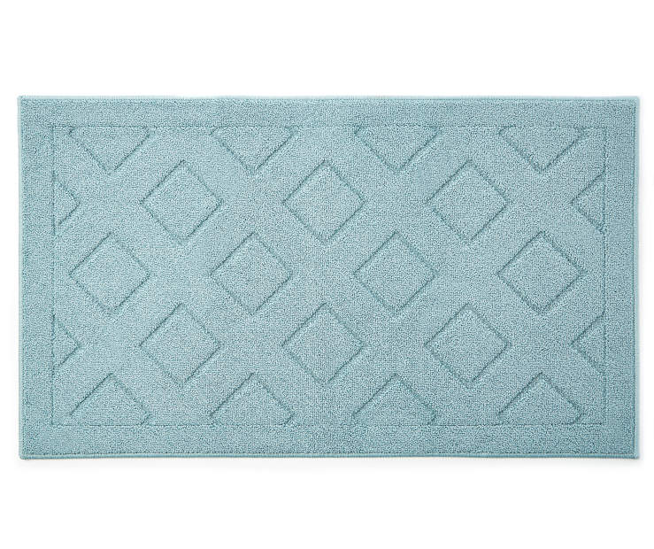 Light Blue Diamond Accent Rug 2 feet 3 inch x 3 feet 9 inch silo front