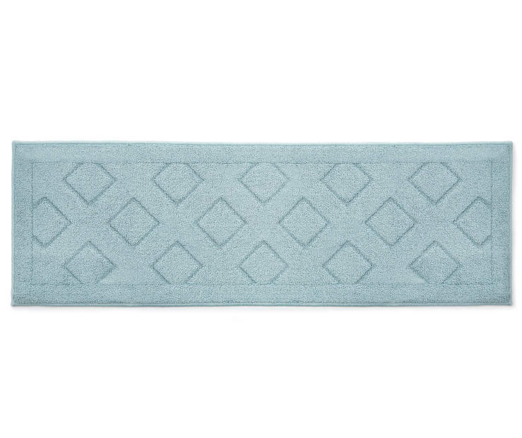 Light Blue Diamond Accent Runner 1 feet 8 inch x 5 feet silo front