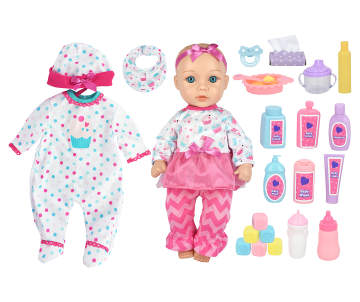 4180f3aa4 Play Zone Cupcake Shirt 23-Piece Deluxe Baby Doll Set Play Zone Cupcake  Shirt 23-Piece Deluxe Baby Doll Set