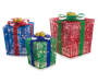 Light Up Gift Boxes 3 Piece Set Side by Side Lit Up Silo front