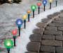 Light Up LED Globe Pathway Markers 10 Count In Outdoor Environment Lifestyle Image