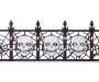 Light Up Skull Fence 24 inch silo front
