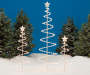 Light Up Spiral Trees 3 Piece in Different Sizes Lifestyle Image with Snow