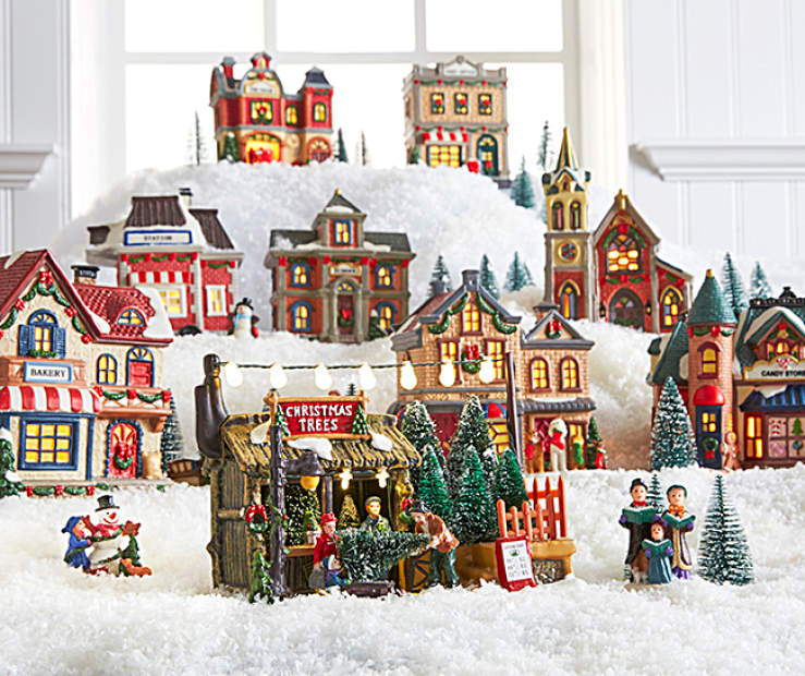 featuring all of the small village stops its easy to make a grand display in your home just in time for the holidays lighted church