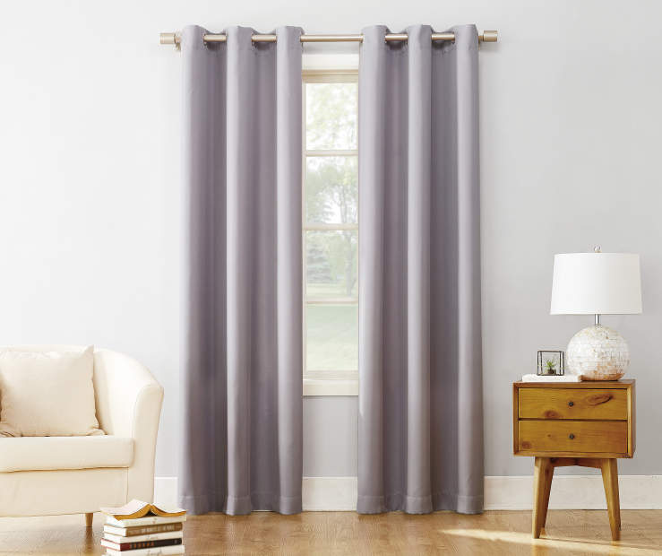Lilac Montego Grommet Curtain Panel 84 Inches On Window Room Environment Lifestyle Image