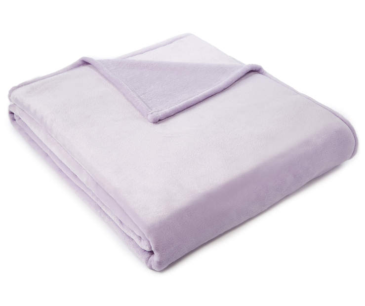 Lilac Twin Full Velvet Plush Blanket silo angled