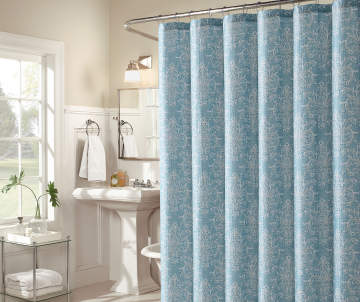 Non Combo Product Selling Price 120 Original List 1200 Aprima Lincoln Mineral Blue Fabric Shower Curtain