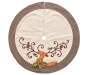 Linen Deer Tree Skirt Overhead Shot Silo