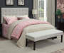 Linen Modern Tufted Bed Bench bedroom setting