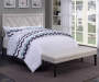 Linen X Pattern Nailhead Full Queen Headboard bedroom setting