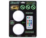 LitezAll COB LED Color Changing Puck 2 Pack Lights Set with Remote silo front package