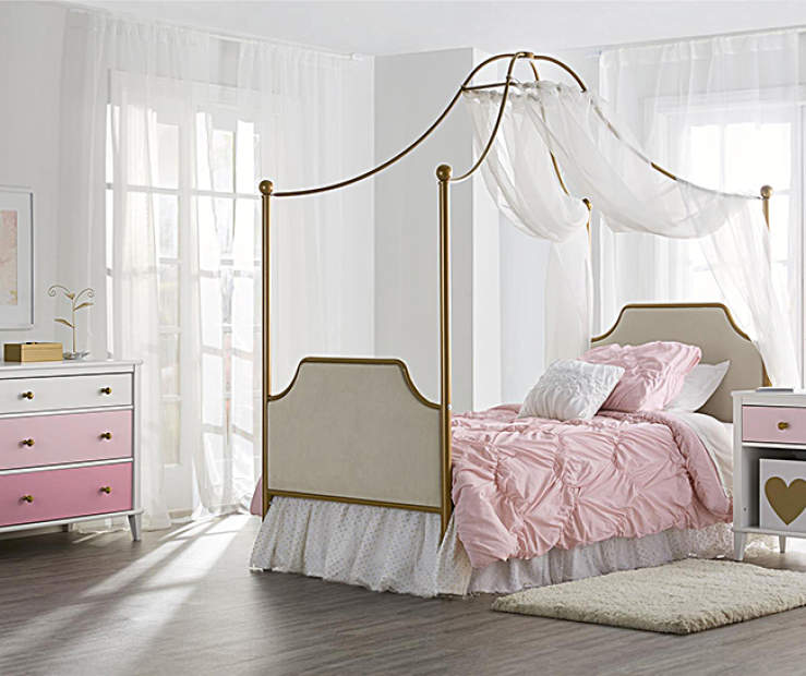 Little Seeds Monarch Hill Canopy Kids Bedroom Furniture