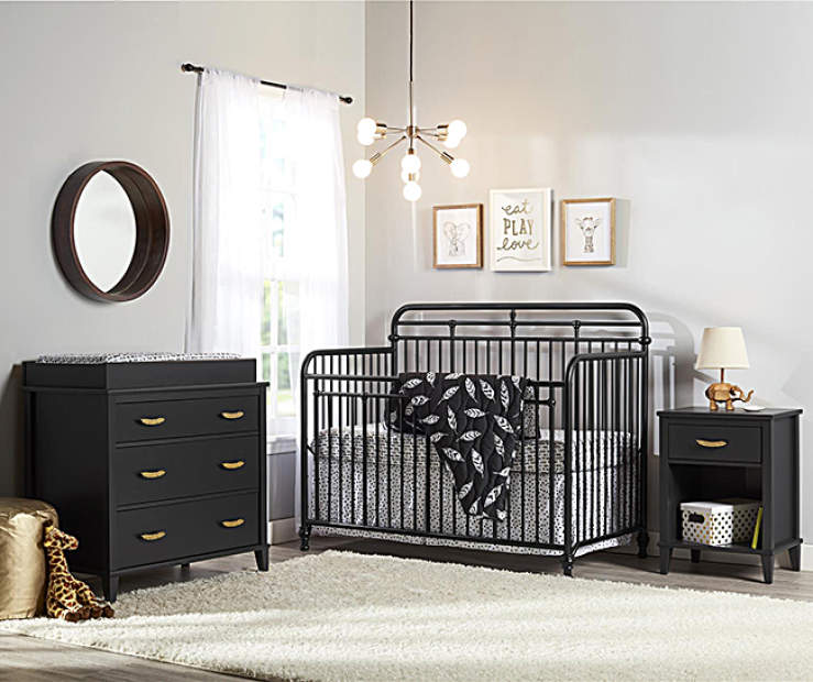 Decorate An Infant Or Baby S Nursery In Chic Modern Style With The Little Seeds Monarch Hill Furniture Collection Sophisticated And Stylish Matte Black